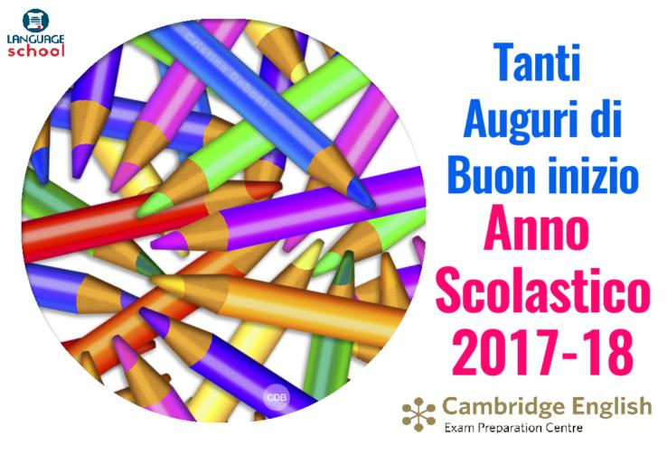 Famoso Buon anno scolastico 2017/2018! | Language School Matera · Corsi  IV32